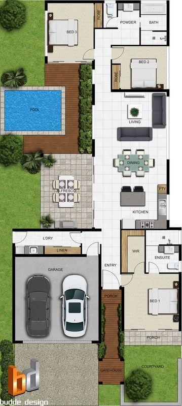 2D colour floor plan for a building company Maison Pinterest
