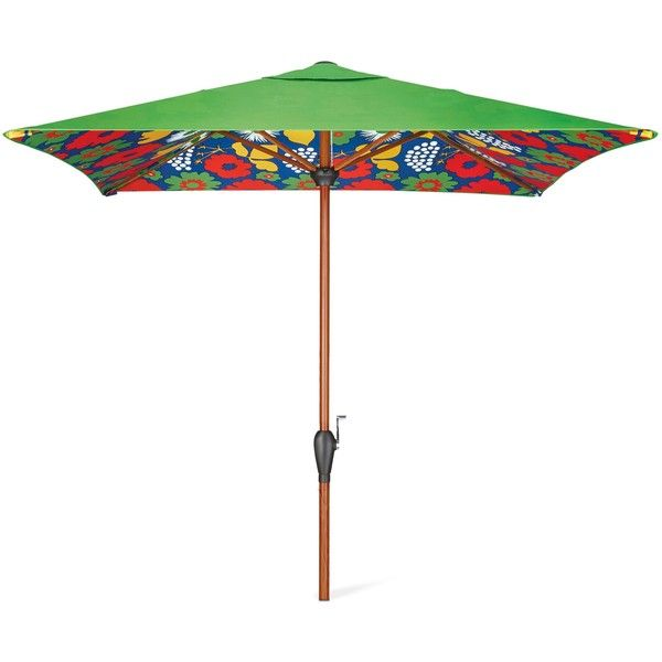 Bon Patio Umbrella: Marimekko For Target Umbrella 8u0027x6u0027: Kukkatori Print:...  ($100) ❤ Liked On Polyvore Featuring Home, Outdoors, Patio Umbrellas, Flower  Stems ...