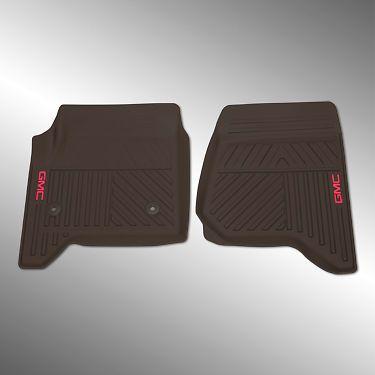 14-17 GMC Sierra 1500 Front Premium All Weather Floor Mats 23452763 Cocoa OEM GM
