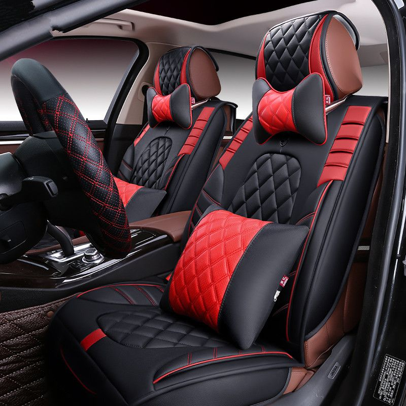 New 3D Sport Car Seat Cover General CushionSenior LeatherCar Styling For BMW Audi HONDA CRV Ford Nissan Sedan SUV