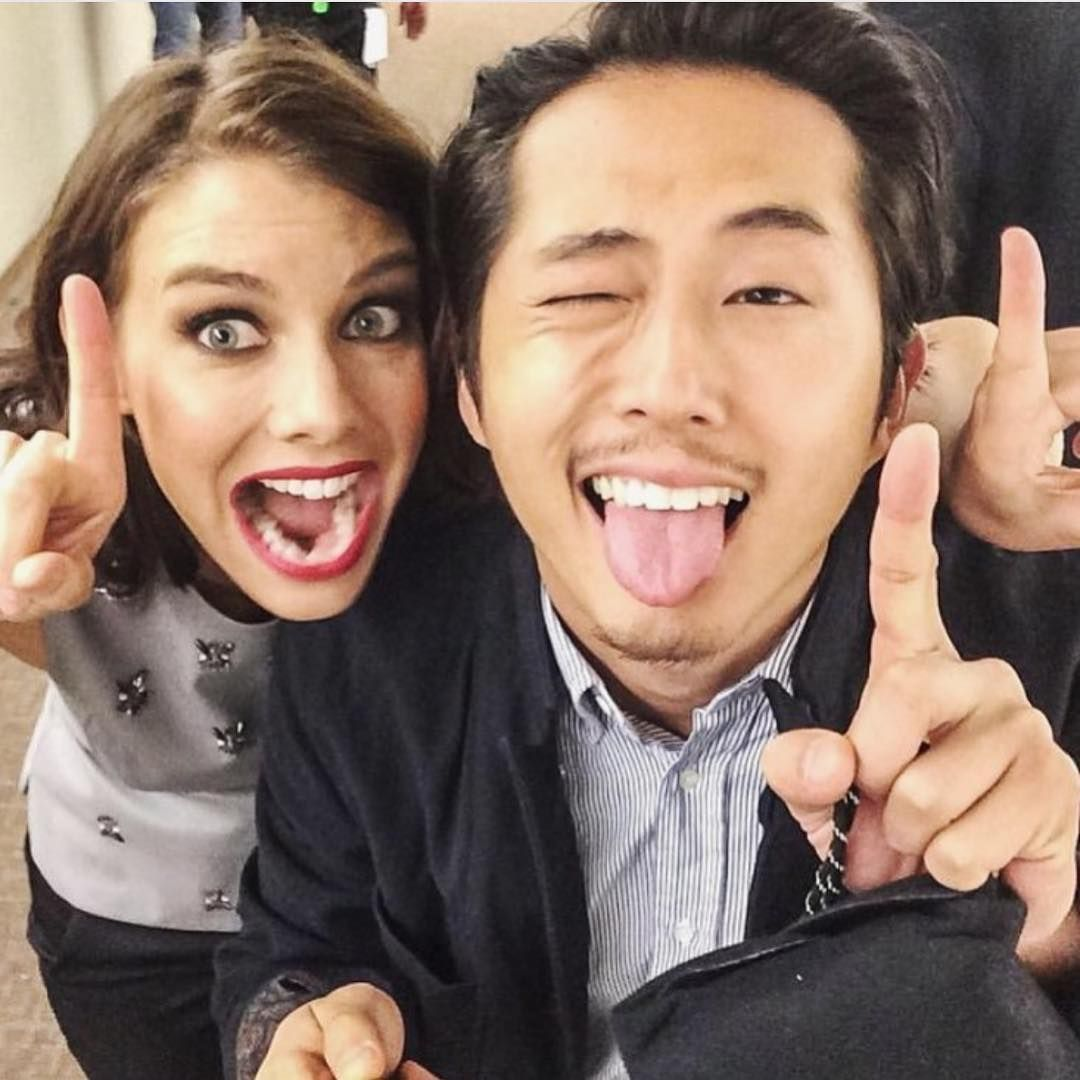 walking dead maggie and glenn dating in real life