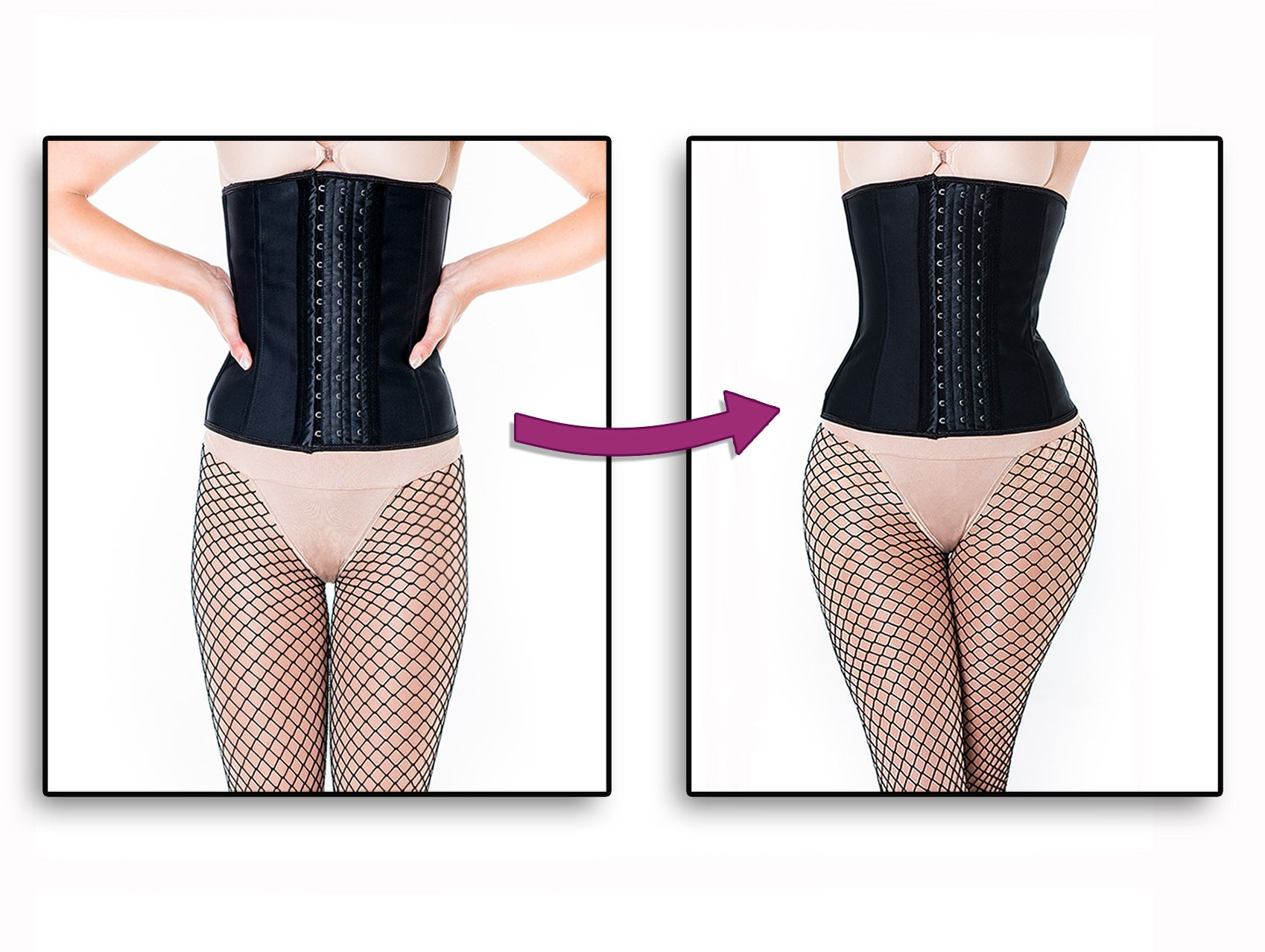 ee82955a3 Before and after! Sculptress silicone hip pads blend invisibly ...