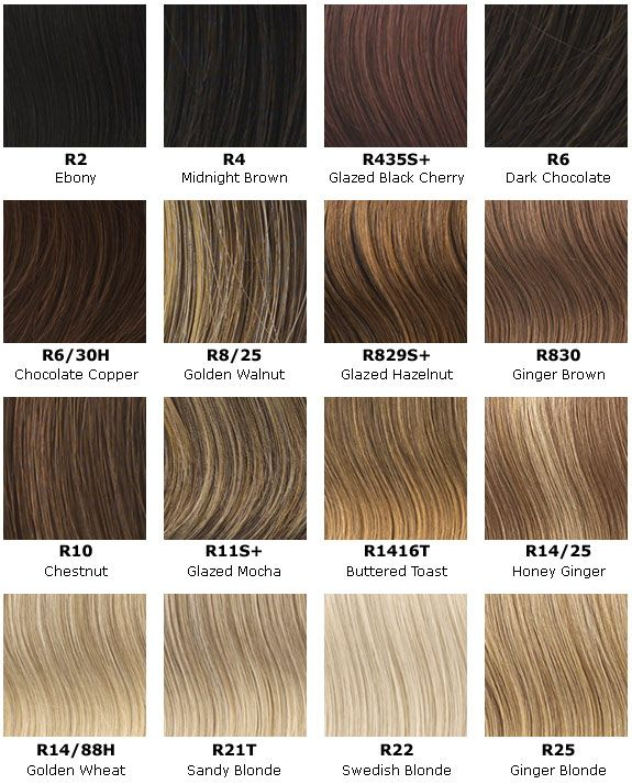 hair color chart makeup