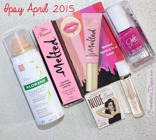 Check Out The Review And Unboxing Of My April 2017 Ipsy Glam Bag Featuring A Too Faced Melted Lipstick