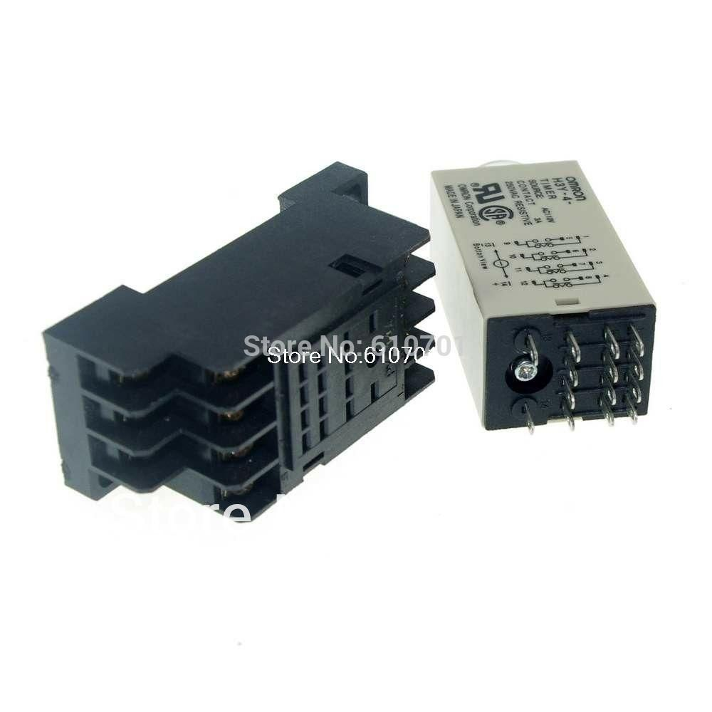 1PCS 12VDC/24VDC/24VAC/110VAC/220VAC H3Y-4 Power On Time