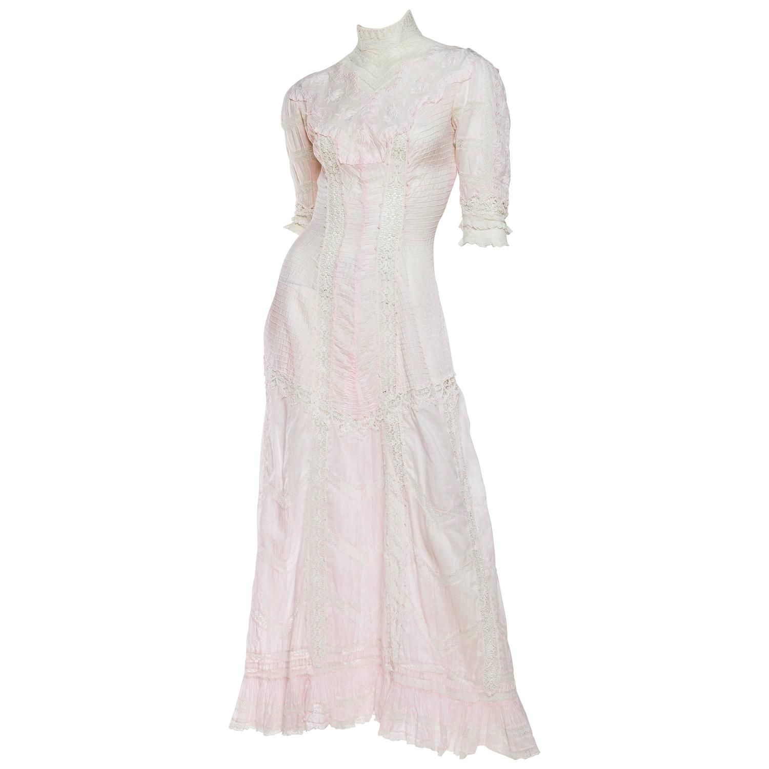 Beautiful And Very Rare Swan Neck Victorian Tea Dress Tea Dress Dresses Tea Length Dresses [ 1500 x 1500 Pixel ]