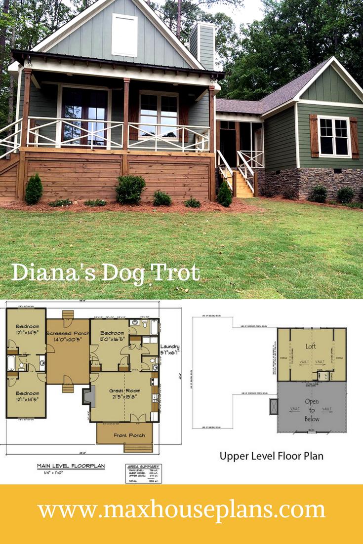 Diana S Dog Trot Dogtrot Cabin Floor Plan Cabin Floor Plans Dog Trot House Plans Lake House Plans