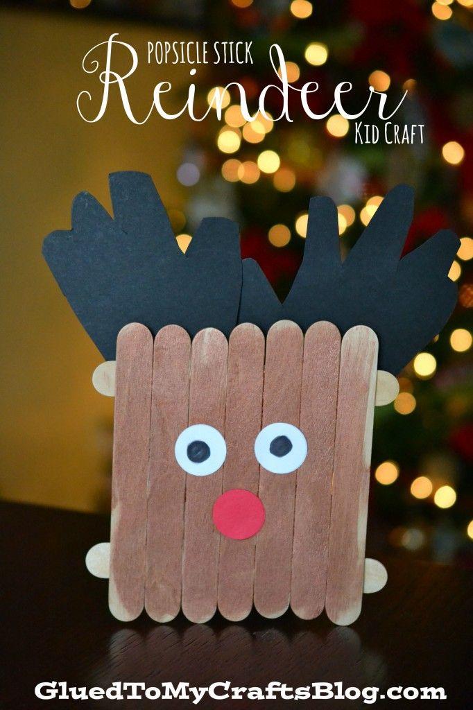 Popsicle Stick Reindeer {Kid Craft} Craft, Craft sticks and
