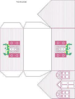 Moldes Para Fazer Casas De Papel Imprimir Recortar E Montar
