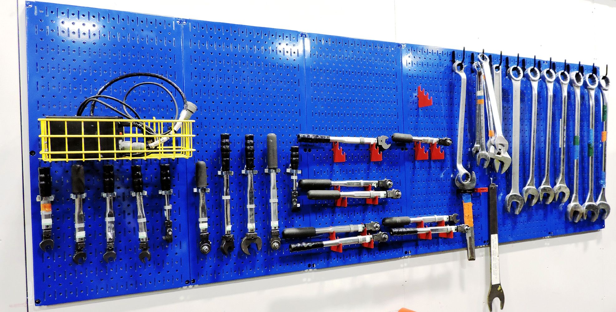 4ft Metal Pegboard Standard Tool Storage Kit Blue