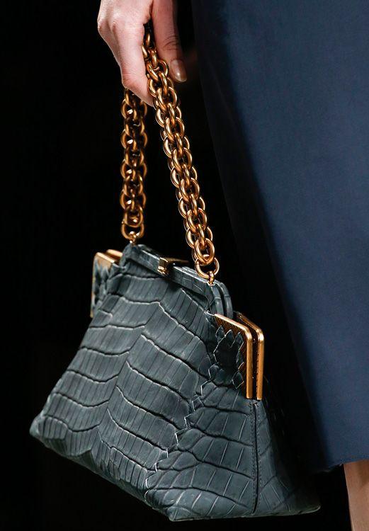 Bottega Veneta Crocodile Frame Bag with Chain Strap picture ... bf89a35ae9
