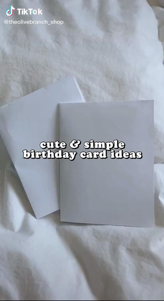 Tik Tok Theolivebranch Shop Paper Birthday Cards Happy Birthday Cards Diy Birthday Card Drawing