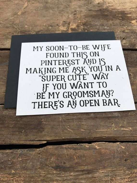 Will you be my Best Woman groomsman card from groom engagement ring bearer wedding party recycled wedding rustic wedding