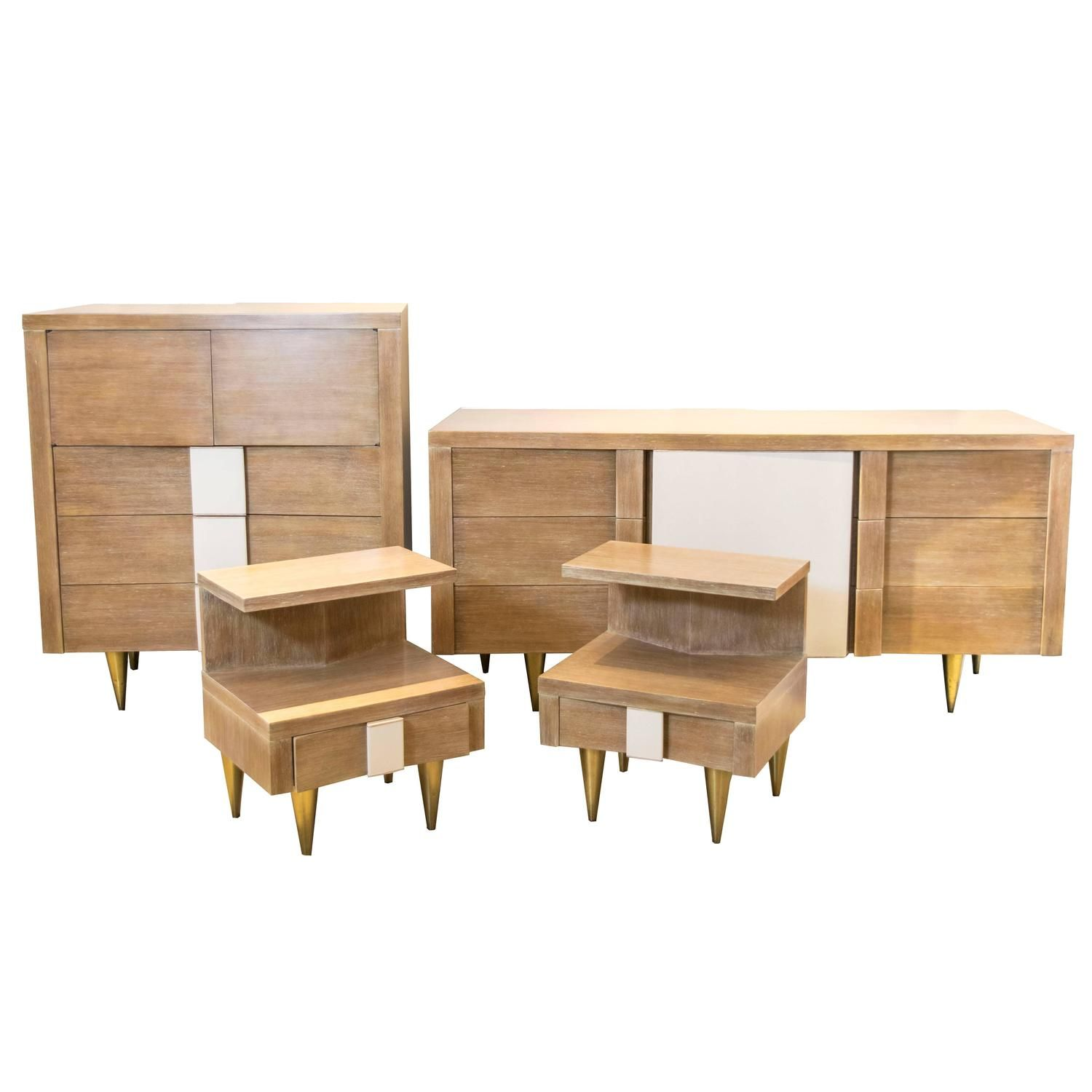 Vanleigh Four Piece Bedroom Set In The Manner Of Gio Ponti From