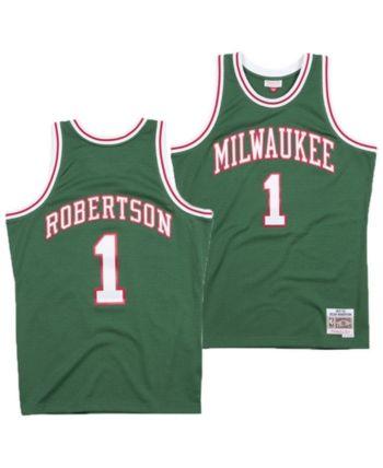 045863fc505 Mitchell   Ness Men s Oscar Robertson Milwaukee Bucks Hardwood Classic  Swingman Jersey - Green XL