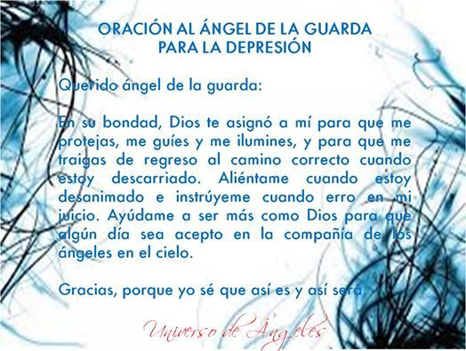 Oración al ángel de la guarda para la depresión. #UniversoDeAngeles