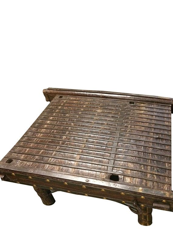 Indian Ox Cart Antique Vintage Coffee Table With By Mogulgallery