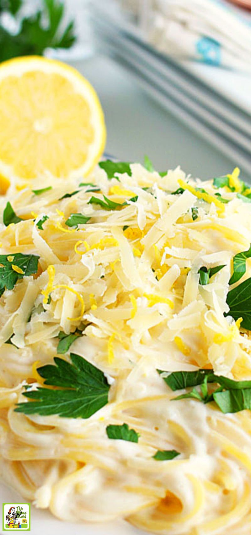 Easy Dinner Ideas Simple Lemon Pasta In 2020 Lemon Pasta Recipes Lemon Pasta Sour Cream Recipes Dinner