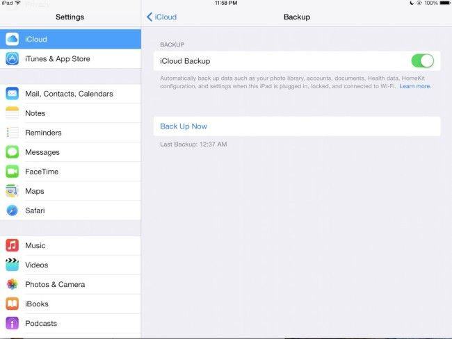 how to set up icloud backup iphone 6