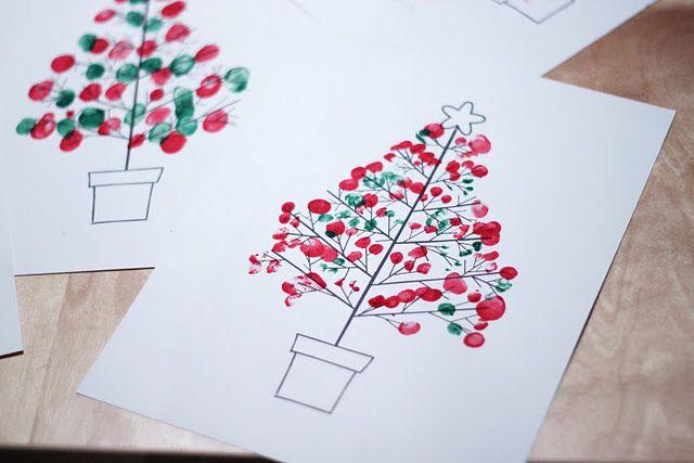 Fingerprint Christmas Tree (with Template