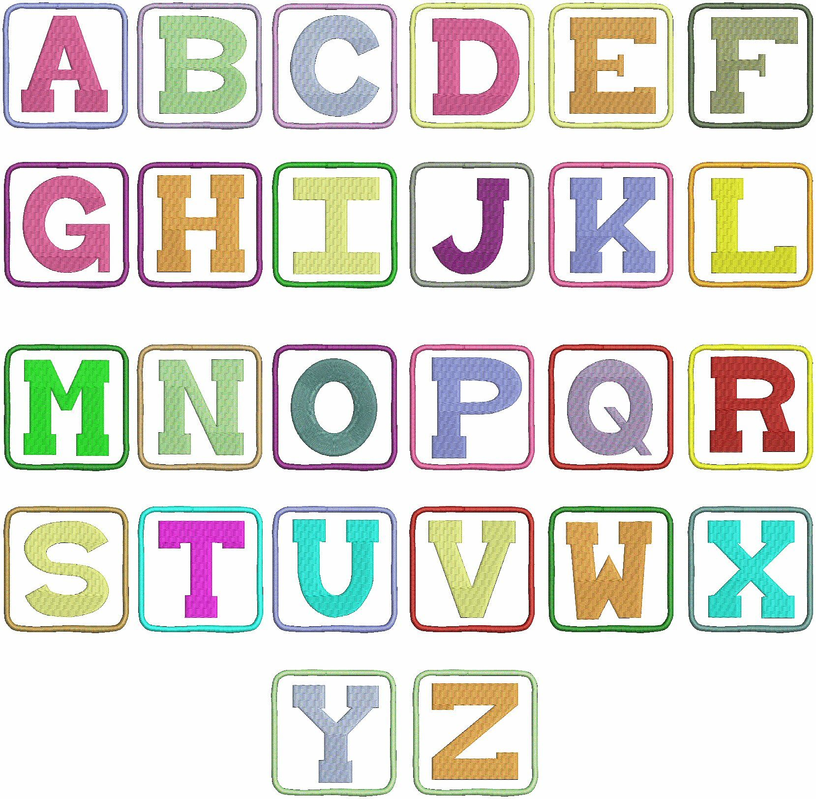 Block Letter Font  Cool Pictures    Block Letter Fonts