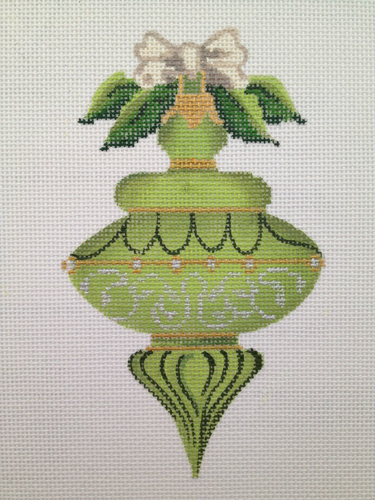 Kelly Clark NP August Peridot Heritage Ornament Stitch Guide HP NP Canvas | eBay