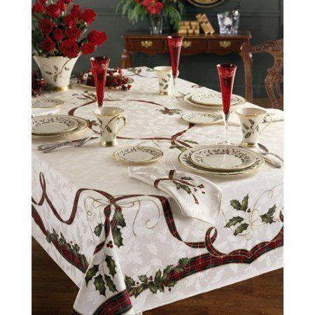 Lenox Holiday Nouveau Tablecloth 60 X 140 Oblong 2015 Amazon