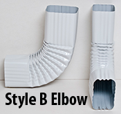 Style B 90 Degree Downspout Elbow Available On Aquabarrel Com Rain Barrel Kit Downspout Downspout Diverter
