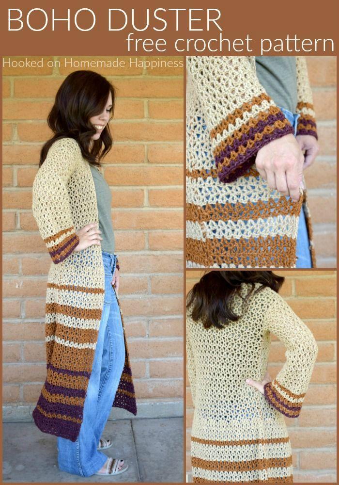 Boho Duster Cardigan Crochet Pattern | Crochet - Sweaters etc ...