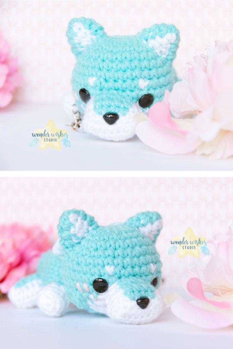 Wolf Amigurumi Stuffed Animal, crochet wolf doll, amigurumi wolf