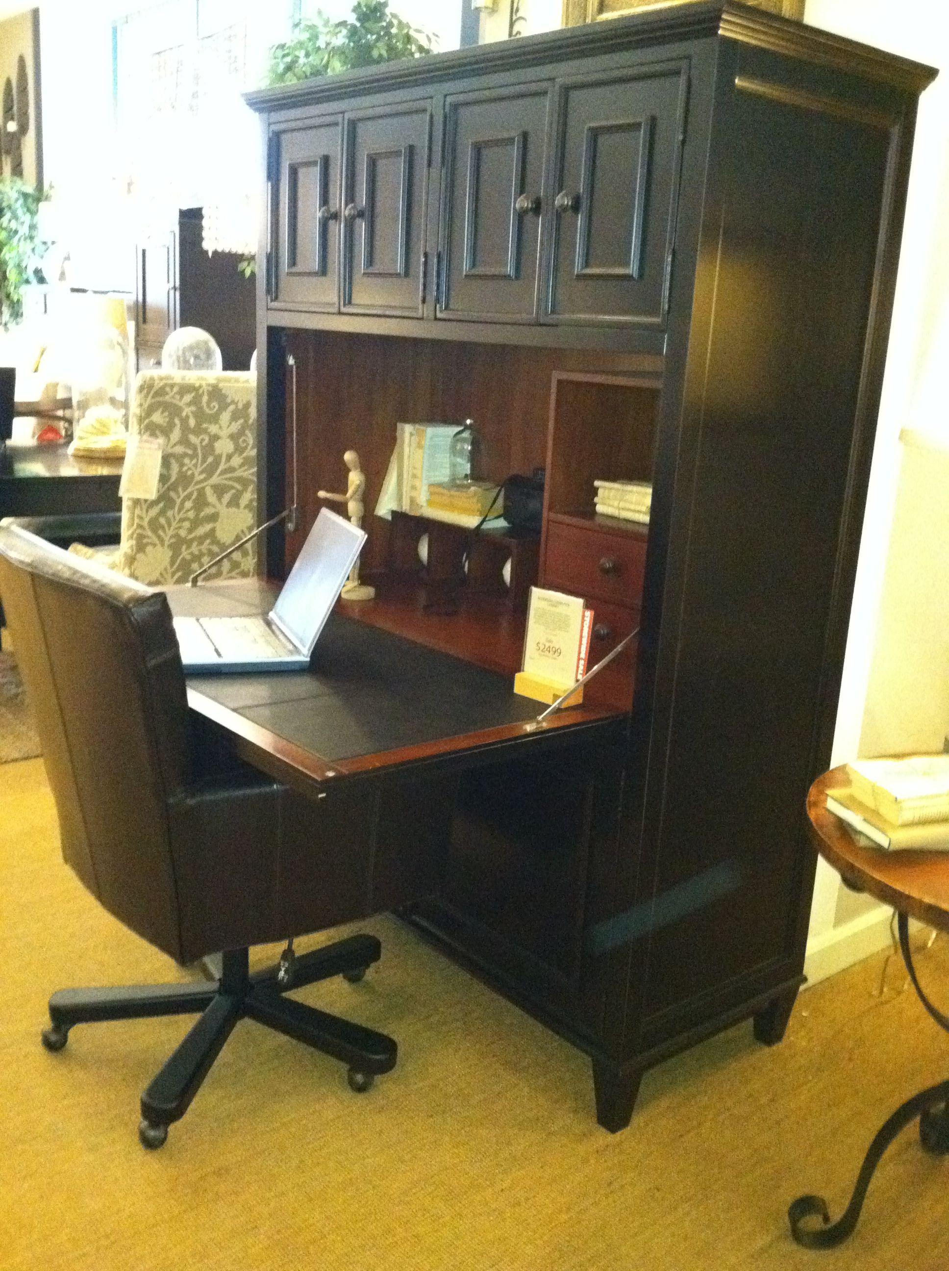 arhaus computer armoire