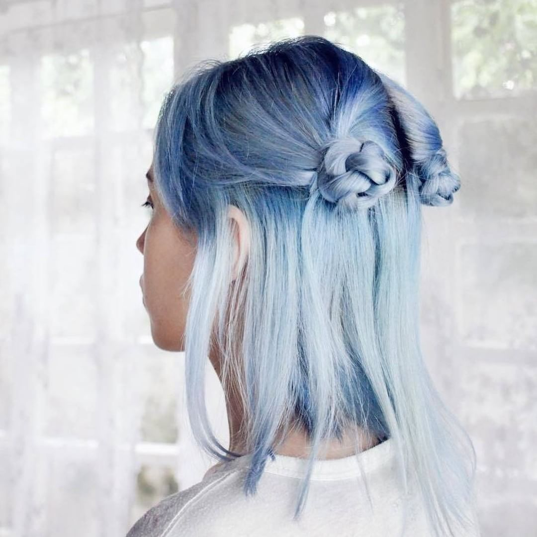 VPInspiration Amazing hair color match Poseidon Periwinkle