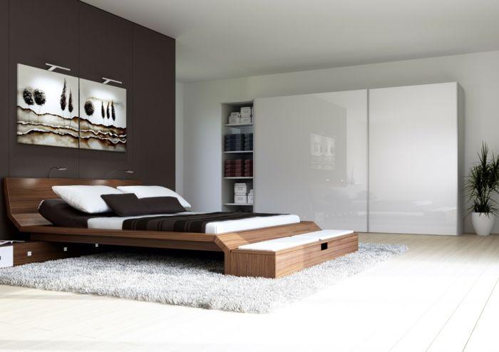 awesome kleiderschrank weiß schiebetüren funktionales bett teppich