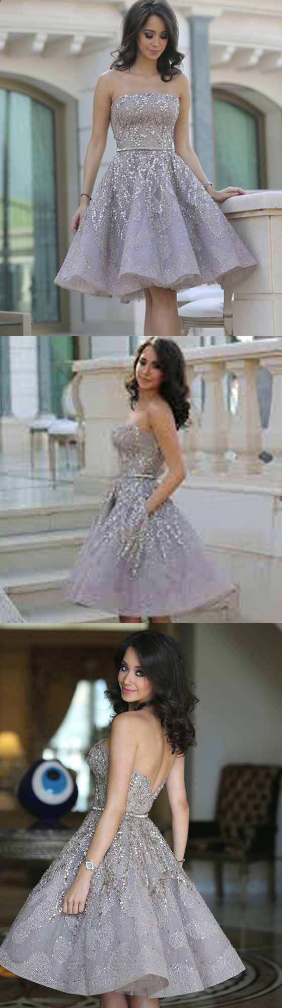 Sparkly short homecoming dress pretty homecoming dress occasion