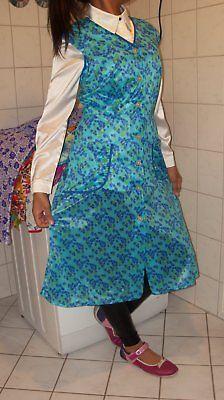 Photo of Wet Shiny Dederon Nylon Smock Apron Apron Smock Turquoise …