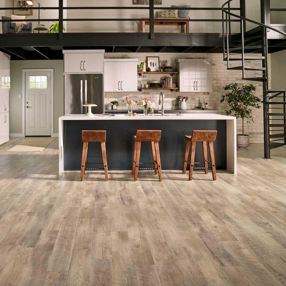 Vintage pewter oak pergo outlast laminate flooring pergo 174 flooring - Pergo Outlast Southport Oak 10 Mm Thick X 6 1 8 In Wide X 47 1 4 In Length Laminate Flooring 16 12 Sq Ft Case Light