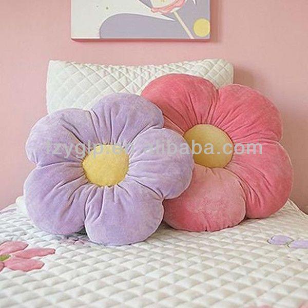 Forma de la flor de almohadas para ni os chicas room - Como hacer cojines decorativos ...