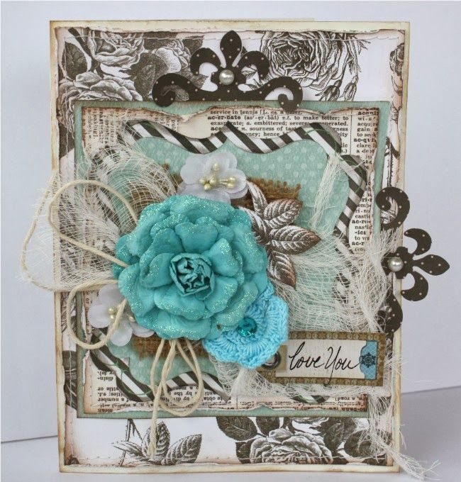Gabrielle Pollacco created this stunning card using the new Pincushion collection. Love all the layers and colors. #BoBunny, @gabrielle Pollacco