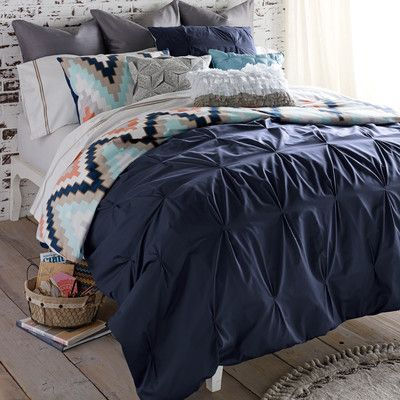 Charmant Blissliving Home Harper 3 Piece Reversible Duvet Cover Set Color: Navy,  Size: King