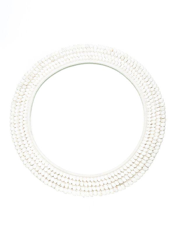 St Barts Mirror - White. 800D mm ws - 395 R - 790