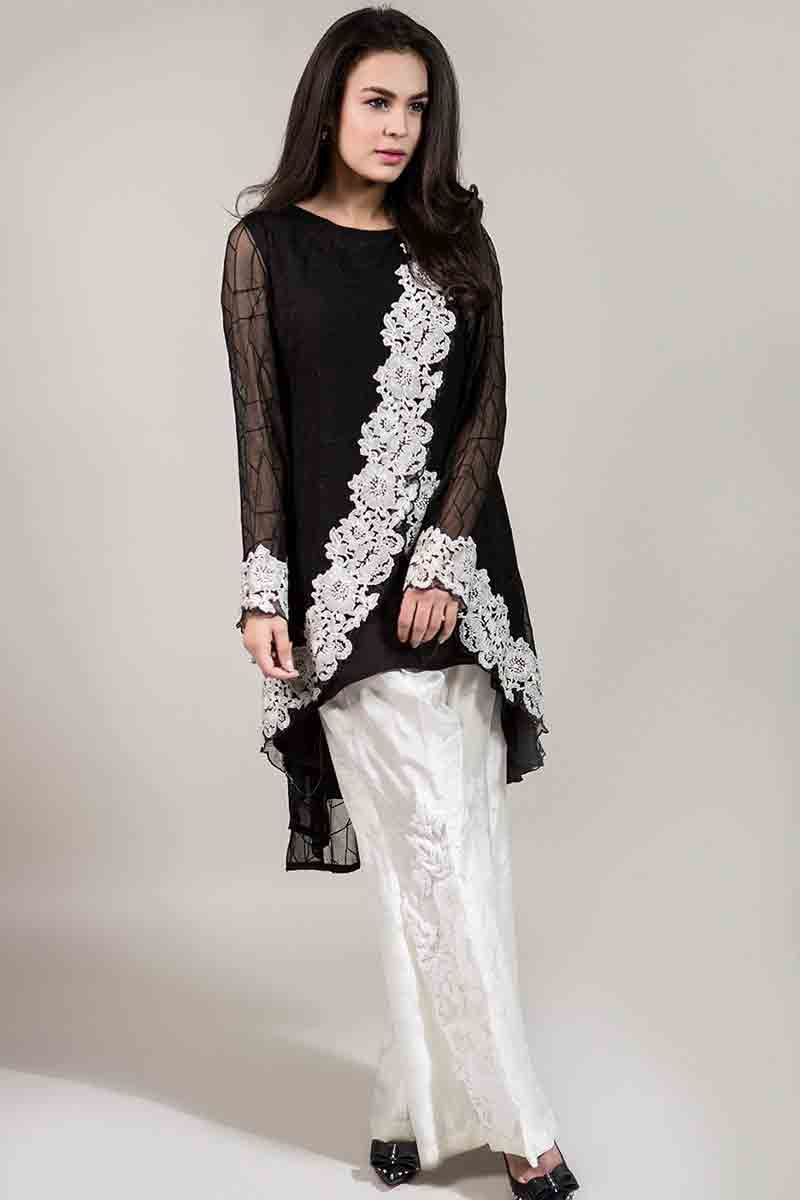 4d0500f7b sexy black net shirt with white embroidery and white pants latest maria b  fancy party wear eid dresses 2017 with price for girls