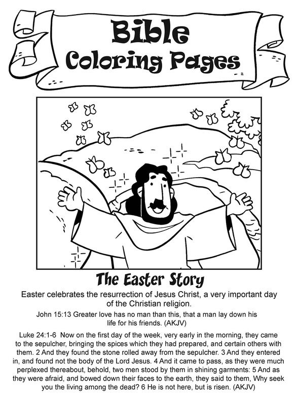 Easter coloring pages Bible Lessons Easter ResurrectionEarly
