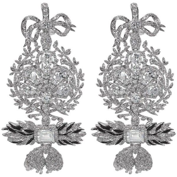 Preowned Magnificent Costume Jewelry Large Diamond Order Of The Golden 2 730 Nzd Liked On Polyvore Featuring Earrings Chandelier