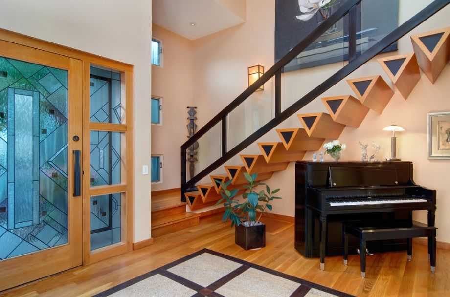 home interior design stairs%0A What You Should Know Before Buying a Home Security System  http   freshome     Stair DesignStaircase