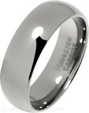 Tungsten Carbide 7mm Court Band Wedding Ring YWgMi
