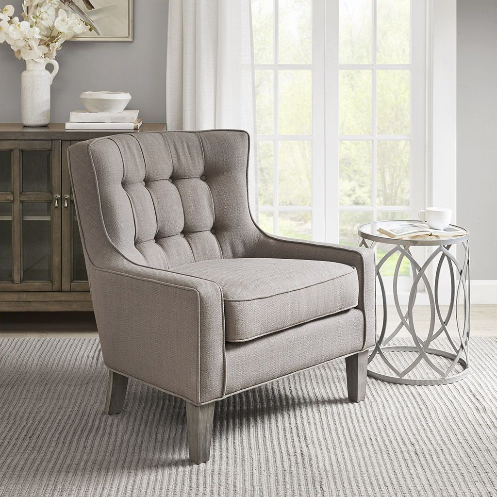 Update Your Space And Relax In The Comfort Of The Madison Park Cushing Accent Chair This Transitional Accen Comfortable Accent Chairs Accent Chairs Furniture
