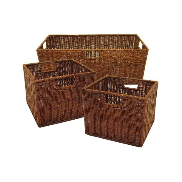 3 pk wire rattan baskets espresso target for above kitchen rh pinterest com