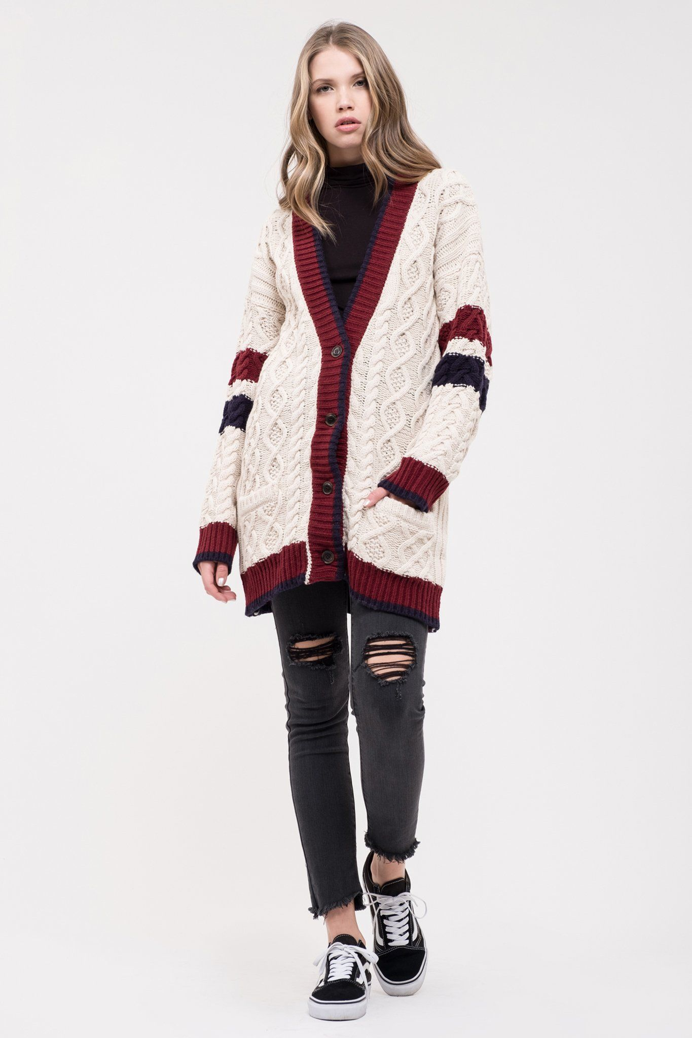 8362e21b8179 caption text | clothes shopping | Knit cardigan, Shopping, Cable ...