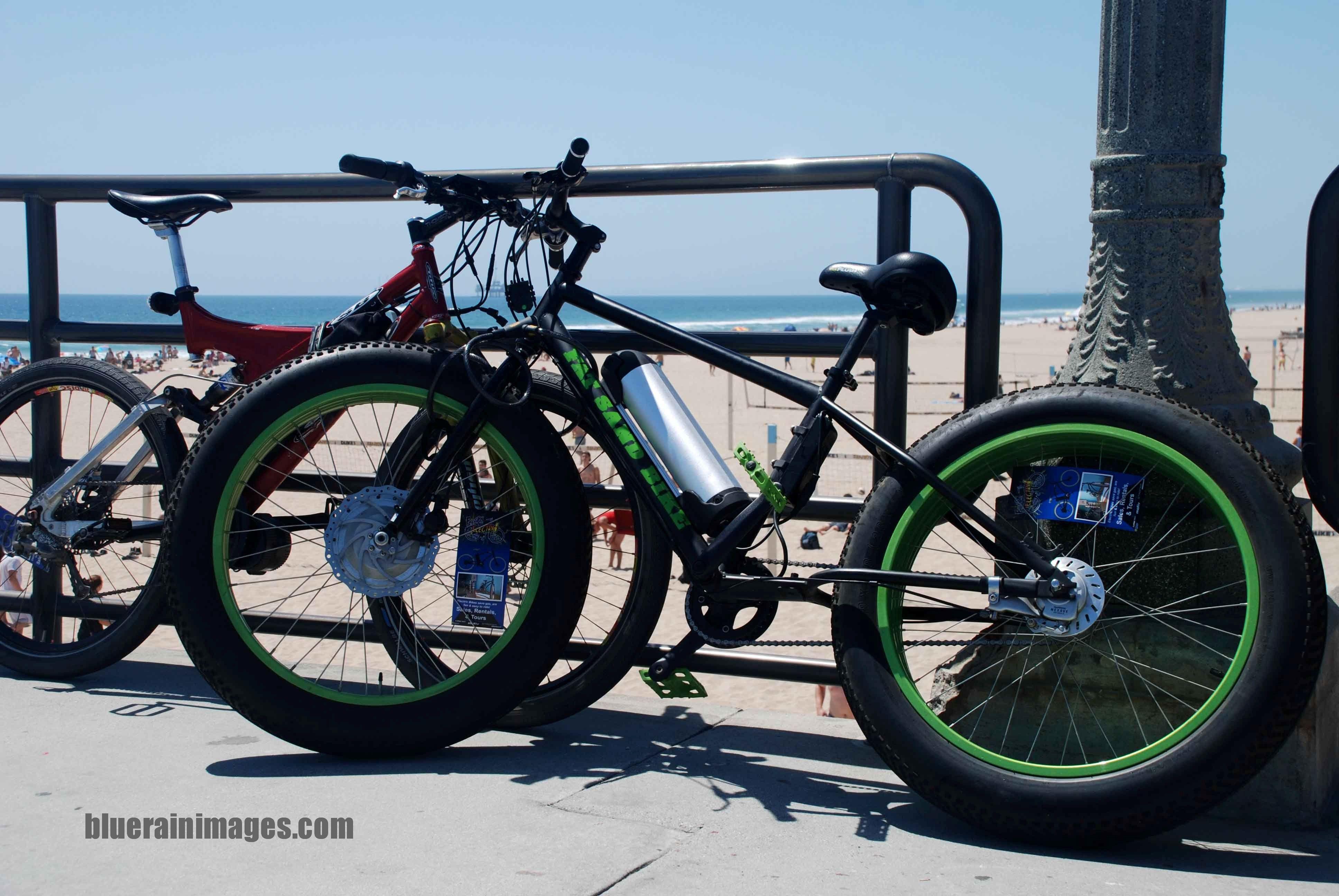 Bikes huntington beach pier photo by bluerainimages