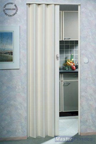 Marley Lockable Concertina Folding Door Plain White 83cm Max Door ...
